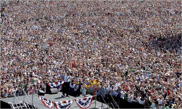 Barack Obama Rally In Portland May 18 2008