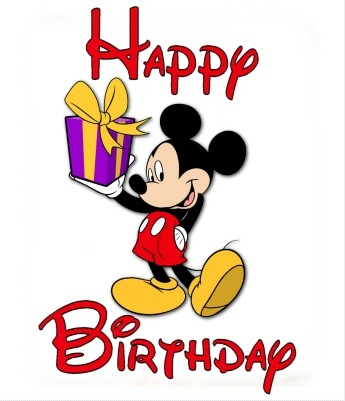 Mickey Mouse Happy Birthday