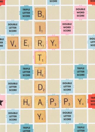 Happy 60th Birthday Scrabble