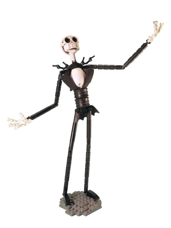 an avid lego hobbyist so what better tribute to the nightmare before christmas than to create this masterpiece jack skellington made entirely of lego