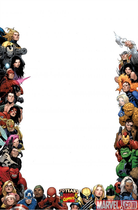 Marvel\'s 70th Anniversary Frame Covers |