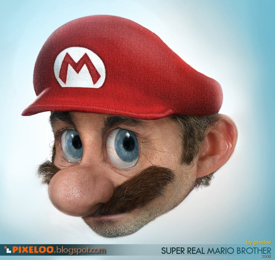 What if cartoons were real? Realmario