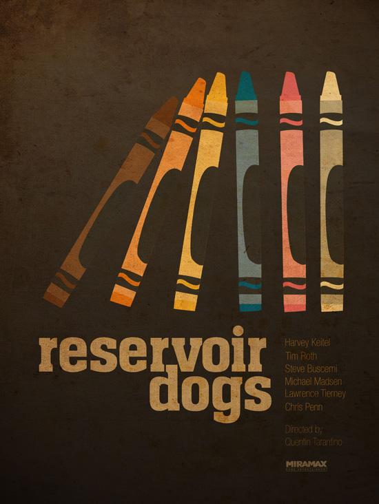quentin tarantino graphic movie poster series