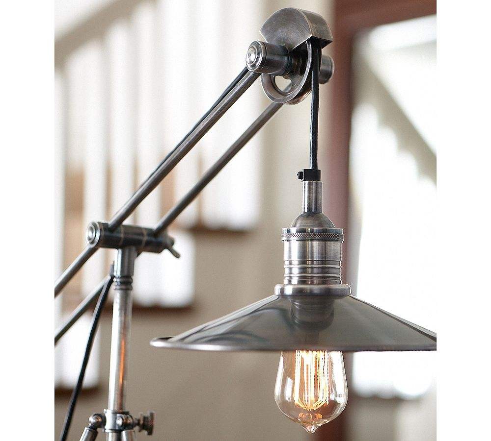 pottery barn pulley task table lamp. Black Bedroom Furniture Sets. Home Design Ideas