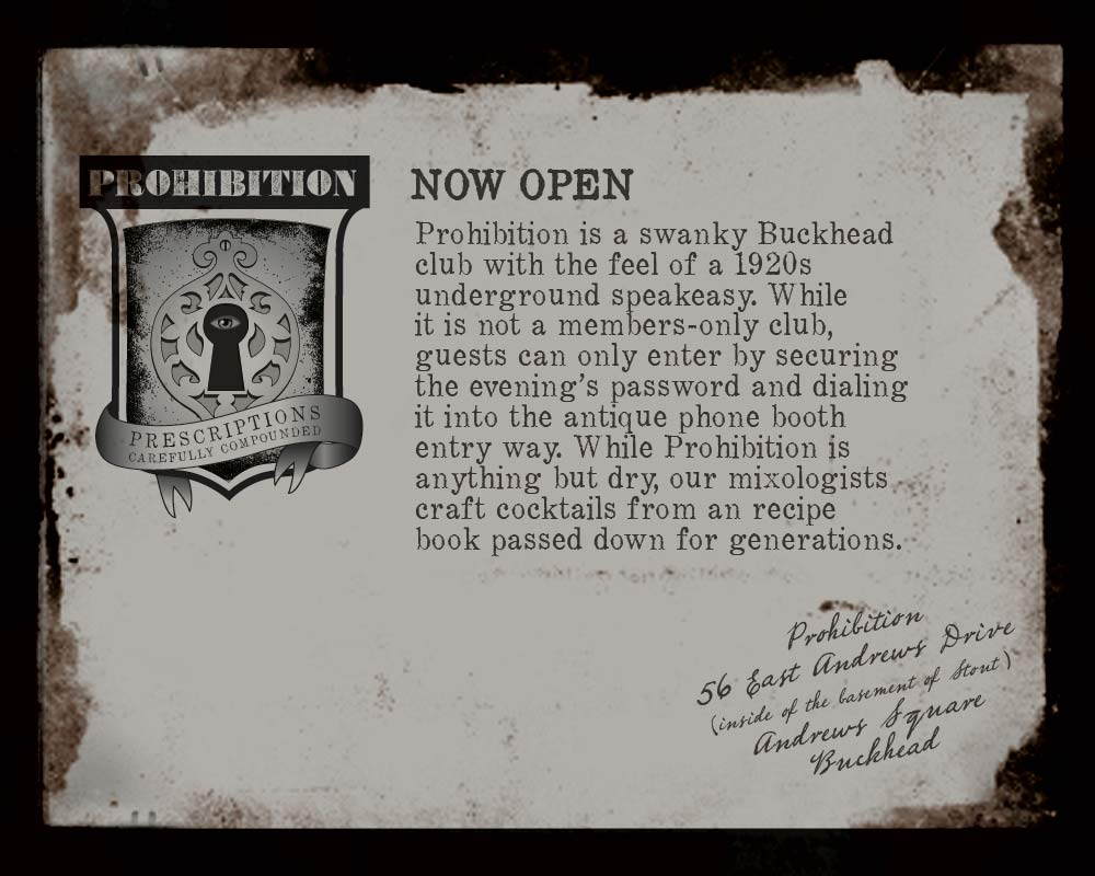 Prohibition The Secret Atlanta Speakeasy