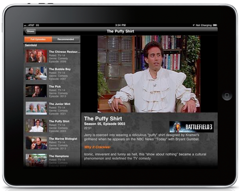 Sony's Crackle App For iPad, iPhone & iPod Touch Lets You