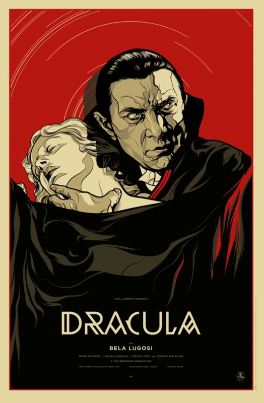 Mondo to release dracula poster by martin ansin on friday for Best black and white prints