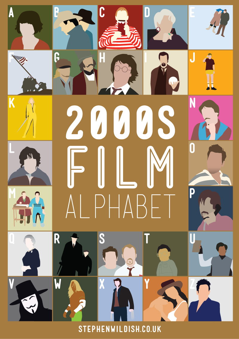 movies that start with the letter e 2000 s alphabet poster that quizzes your 2000s 12239 | 00s