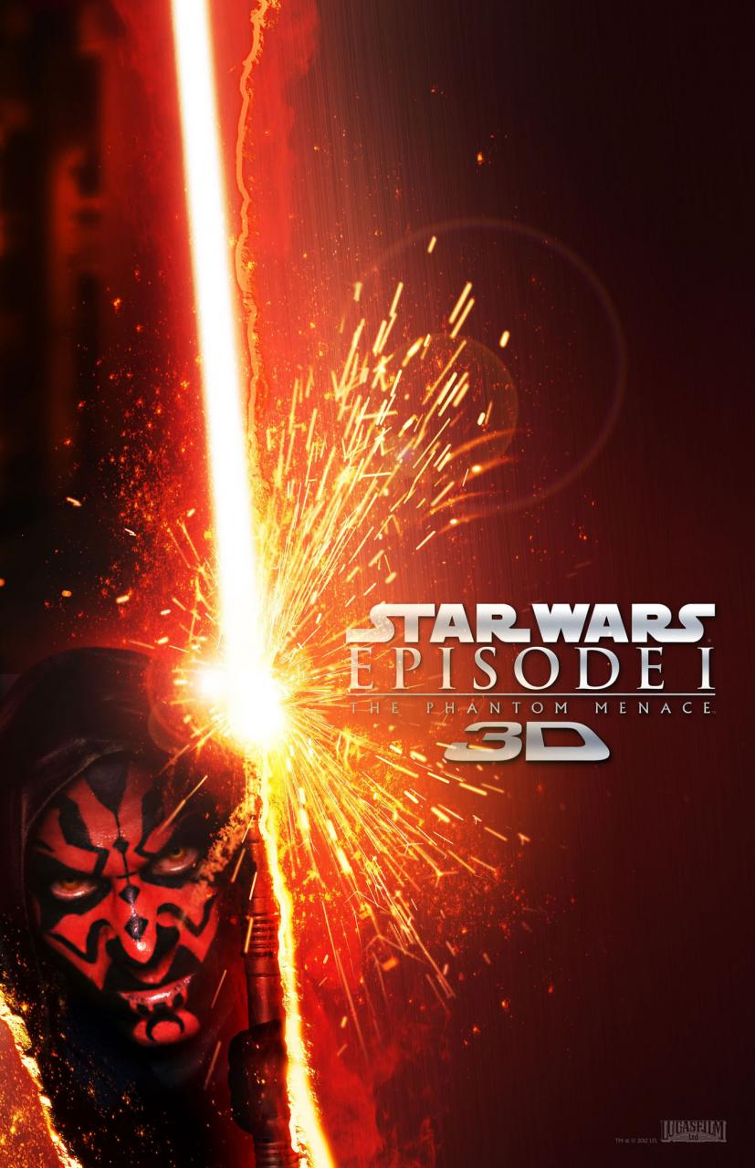 five new posters for star wars episode i the phantom menace 3d