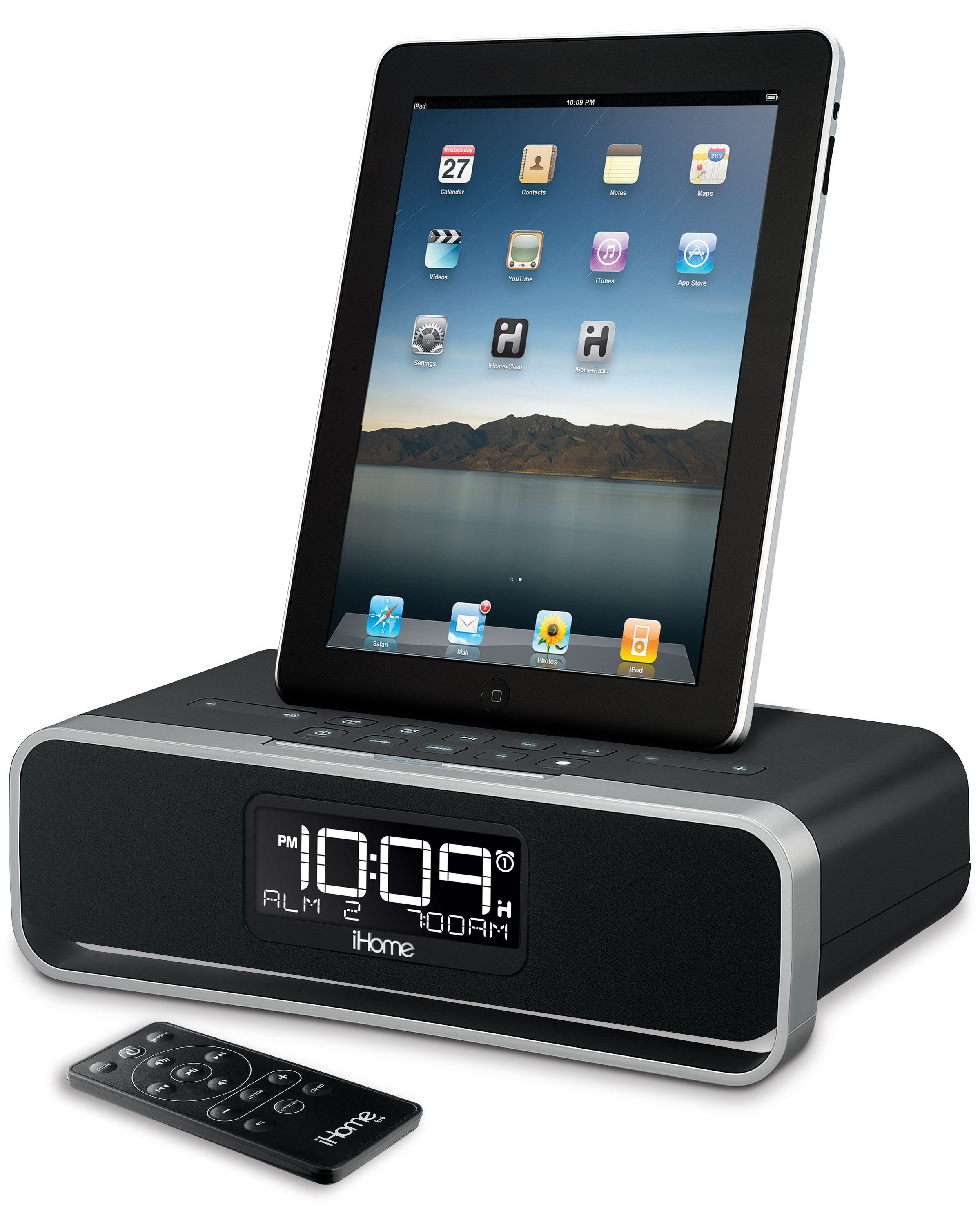 ihome id91 dual alarm clock radio for iphone ipod ipad. Black Bedroom Furniture Sets. Home Design Ideas