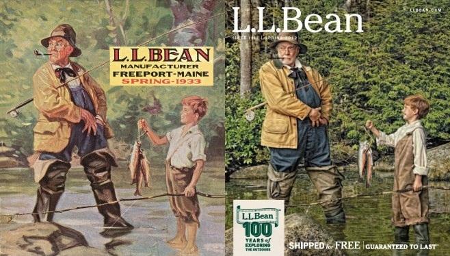 L L Bean Recreates Vintage Catalog Cover Shoot With Randal