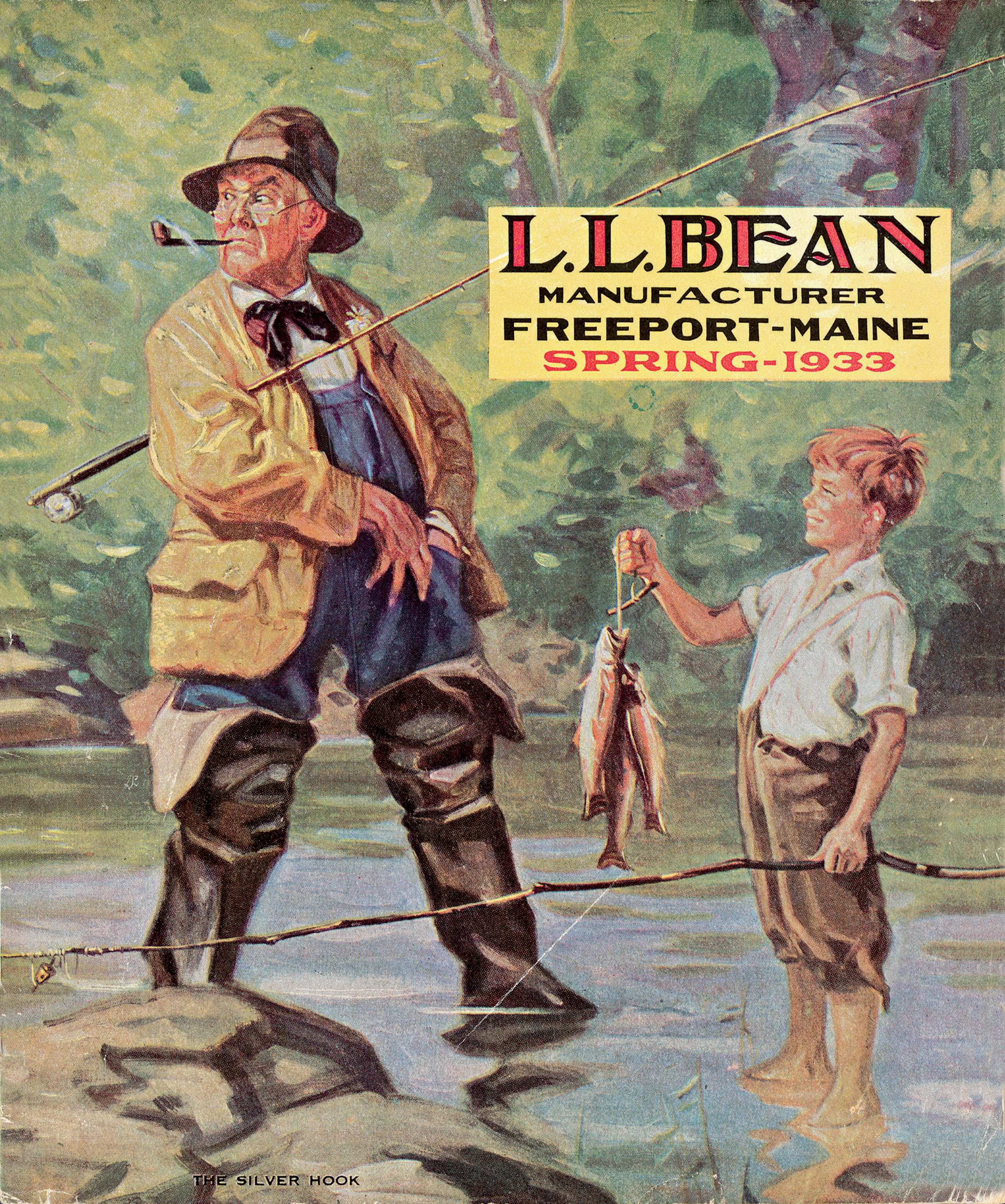 L l bean recreates vintage catalog cover shoot with randal for Ll bean fishing