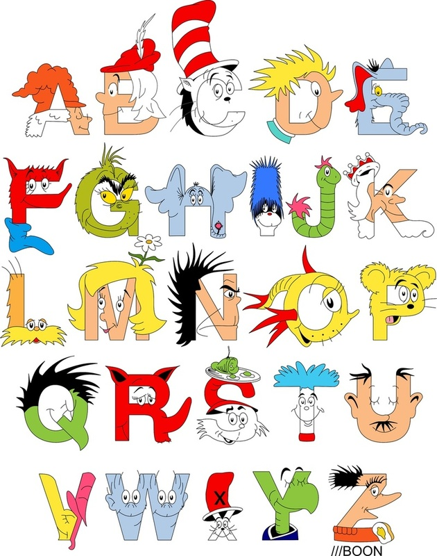 Mike Boon has created the Dr. Seuss Alphabet , an ABC poster inspired ...