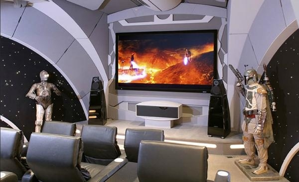 awesome star wars themed home theater. Black Bedroom Furniture Sets. Home Design Ideas