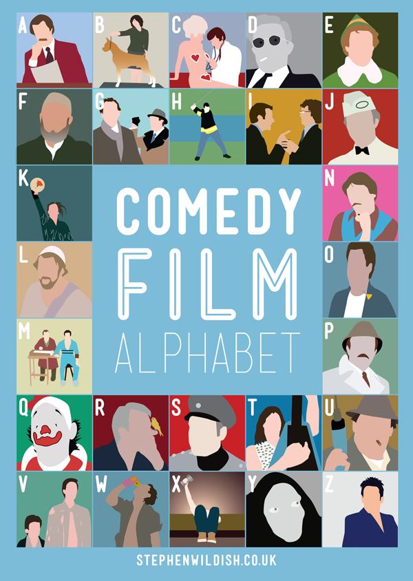 comedy film alphabet by stephen wildish. Black Bedroom Furniture Sets. Home Design Ideas