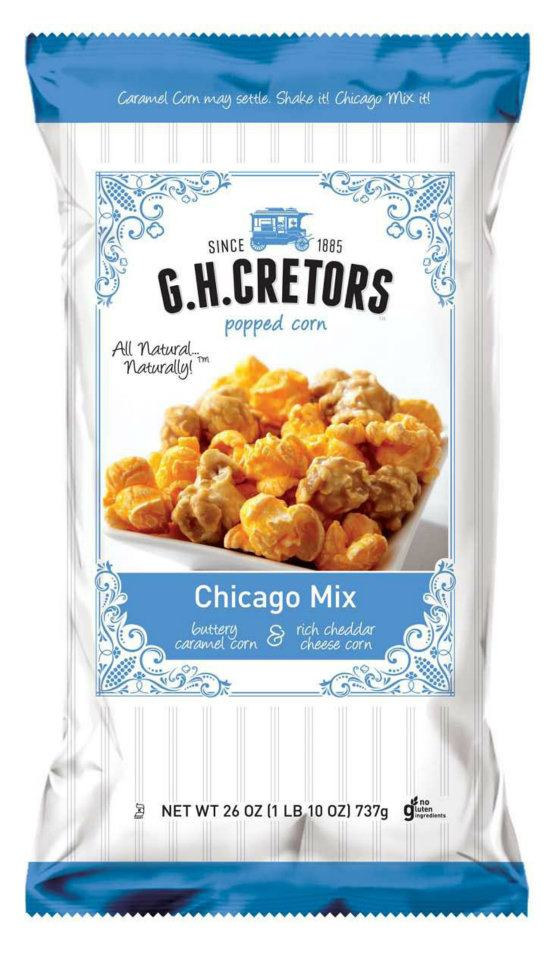 G.H. Cretors sent me 5 delicious bags of gourmet popcorn and they asked if I wanted to share. Of course! Are you familiar with their famous Chicago Mix? It's Old Fashioned Caramel Corn mixed up and tossed in with Aged Cheddar Cheese Corn and don't knock it until you try it it's addicting!