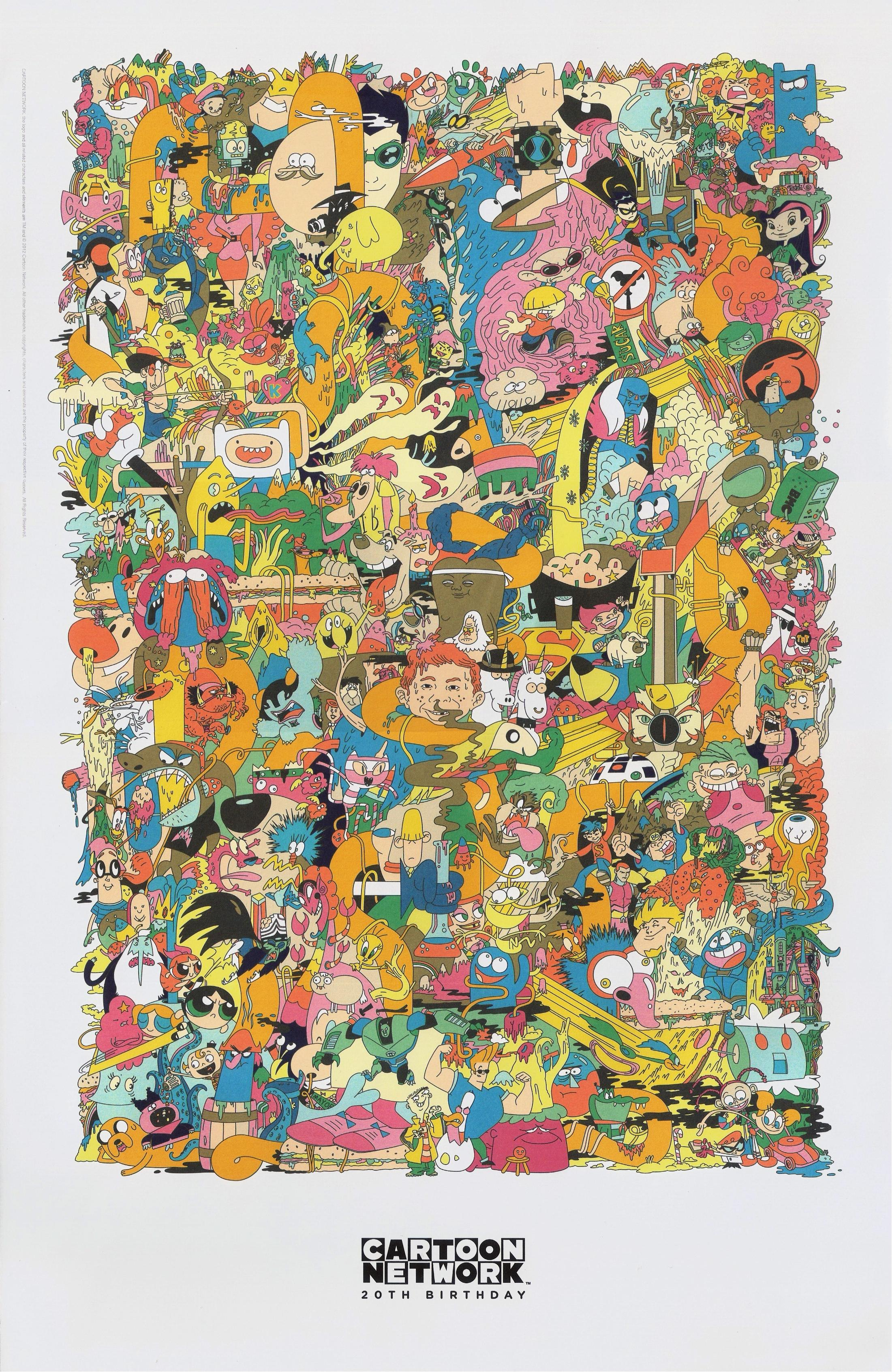 Cartoon Network S 20th Anniversary Poster