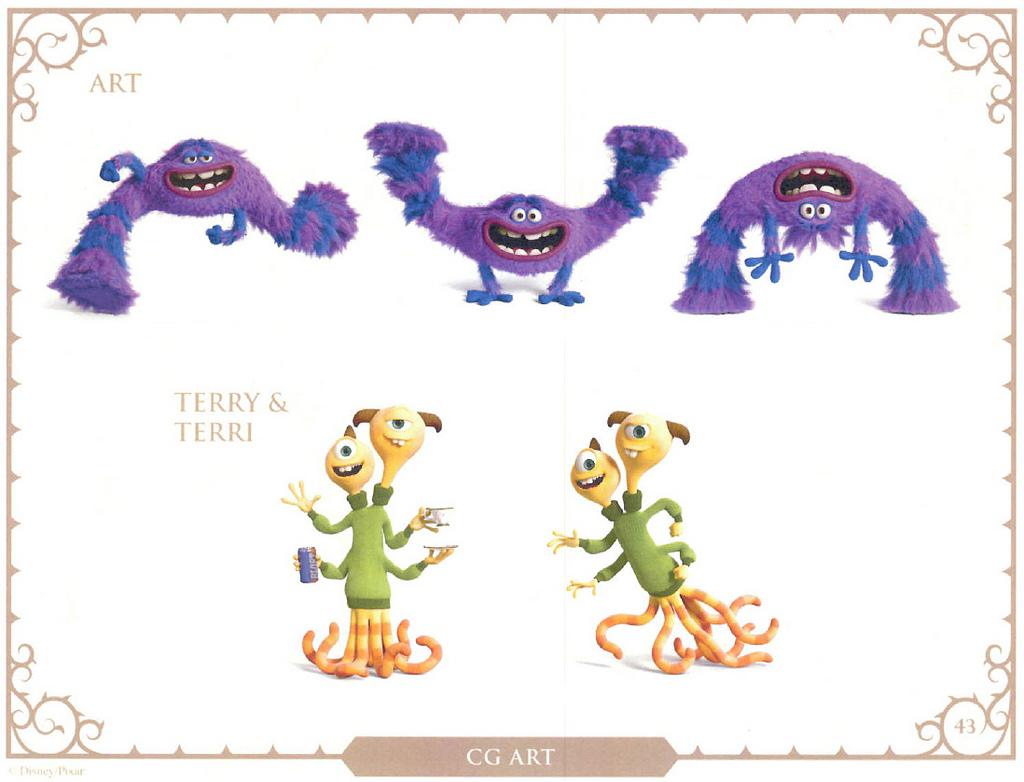 New Pixar Monsters University Character Art