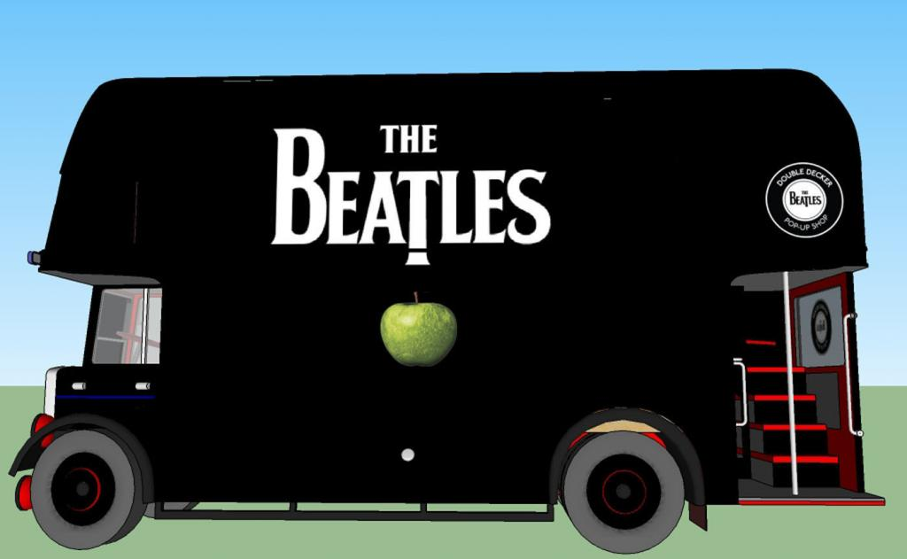 Catch The Beatles Double Decker Bus Pop Up Shops In New