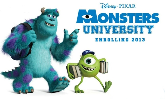 monsters university enrolling 2013 monstruos university monstruos sa 2 pixar walt disney animacion mike wazowsky james p sullyvan sully banner poster cartel imagen promocional clipart render