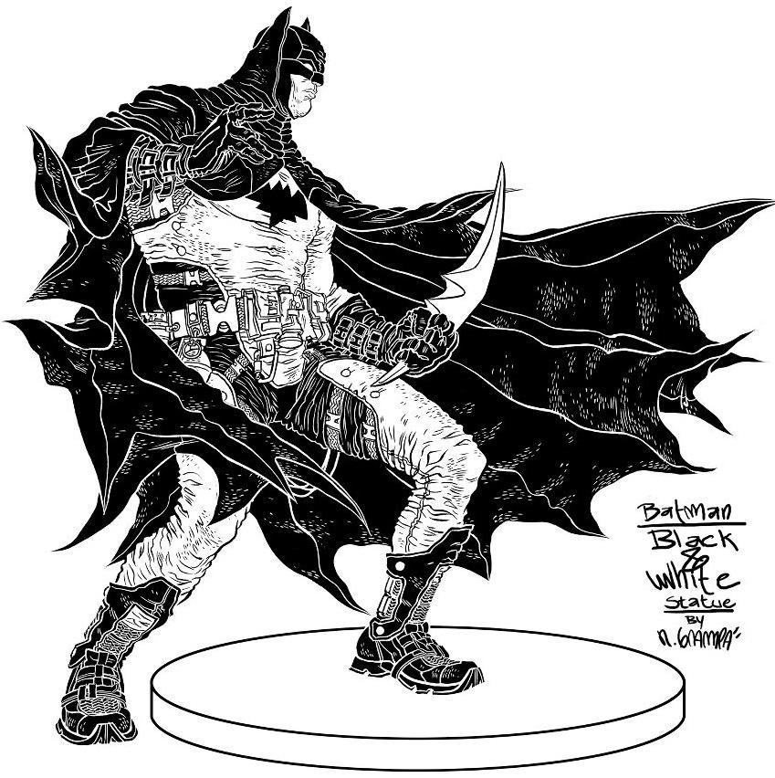 Cool Posters Black And White Batman Black & Whi...