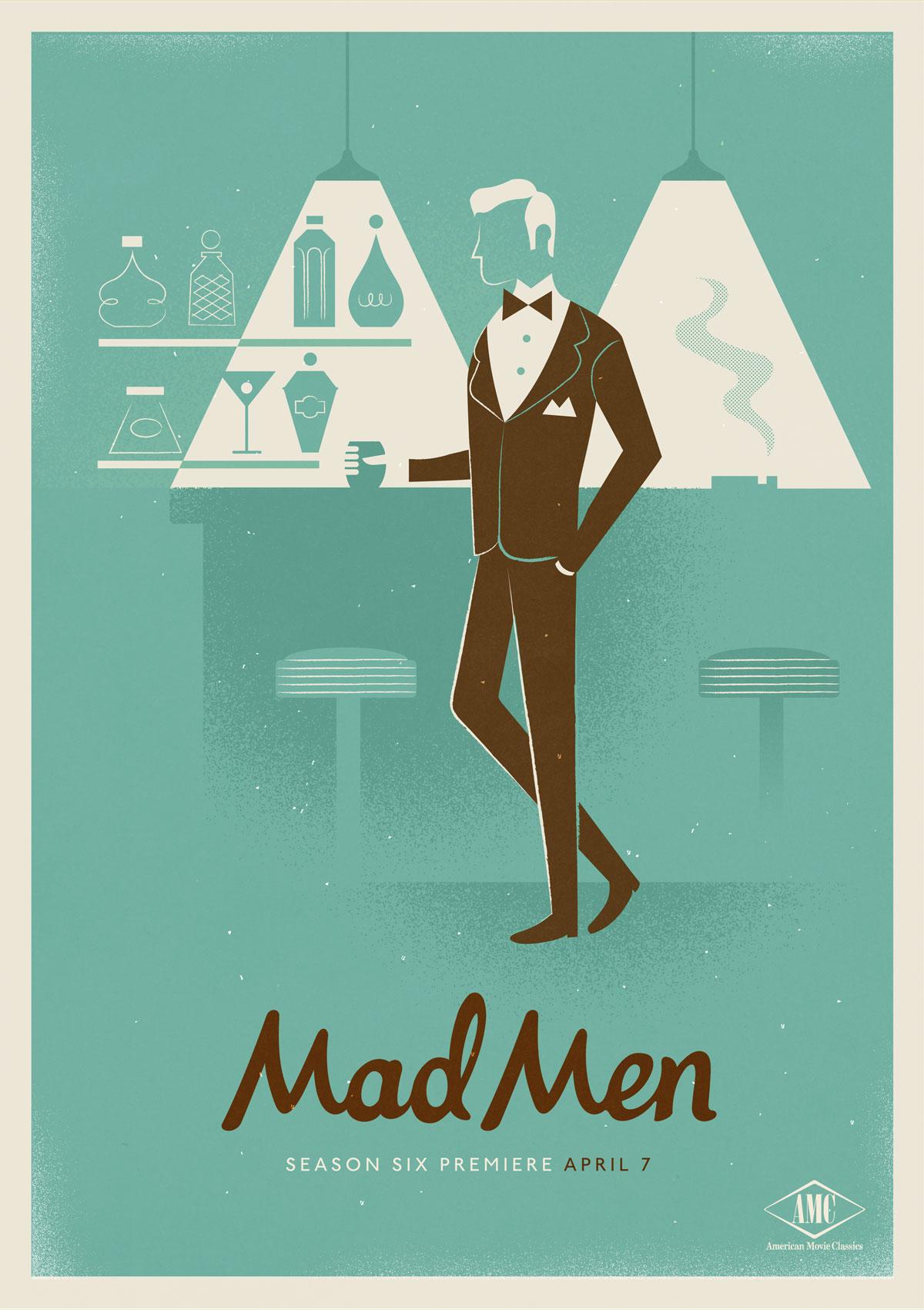 mad men season 6 poster designs by radio