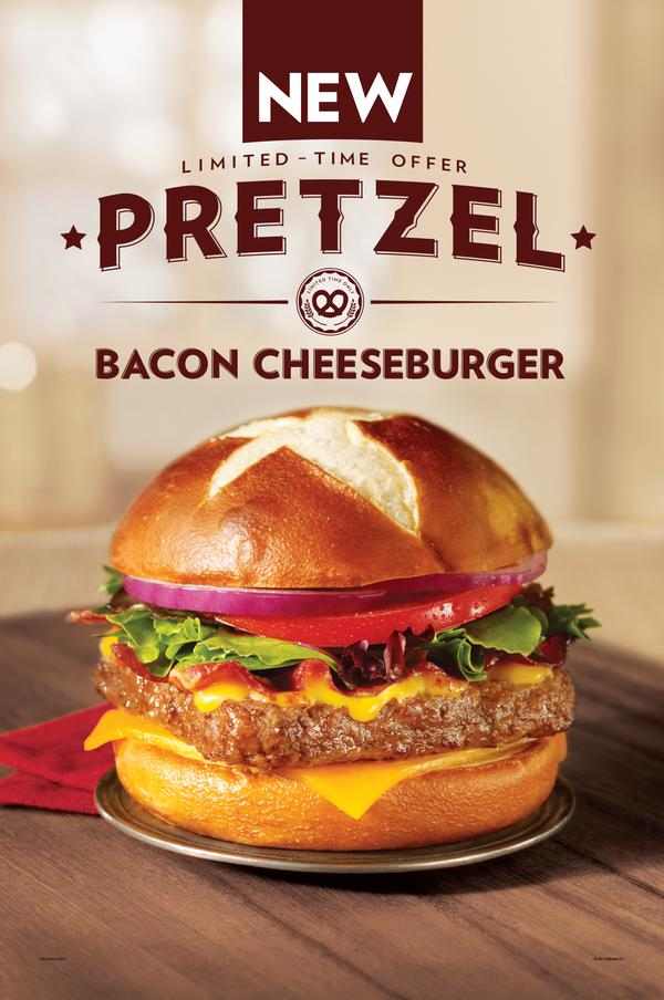 Wendys To Introduce New Pretzel Bacon Cheeseburger On July 4 2013