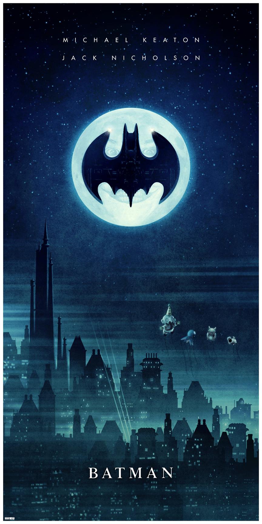 He Stole my Balloons!! (Batman '89) Poster By Matt Ferguson