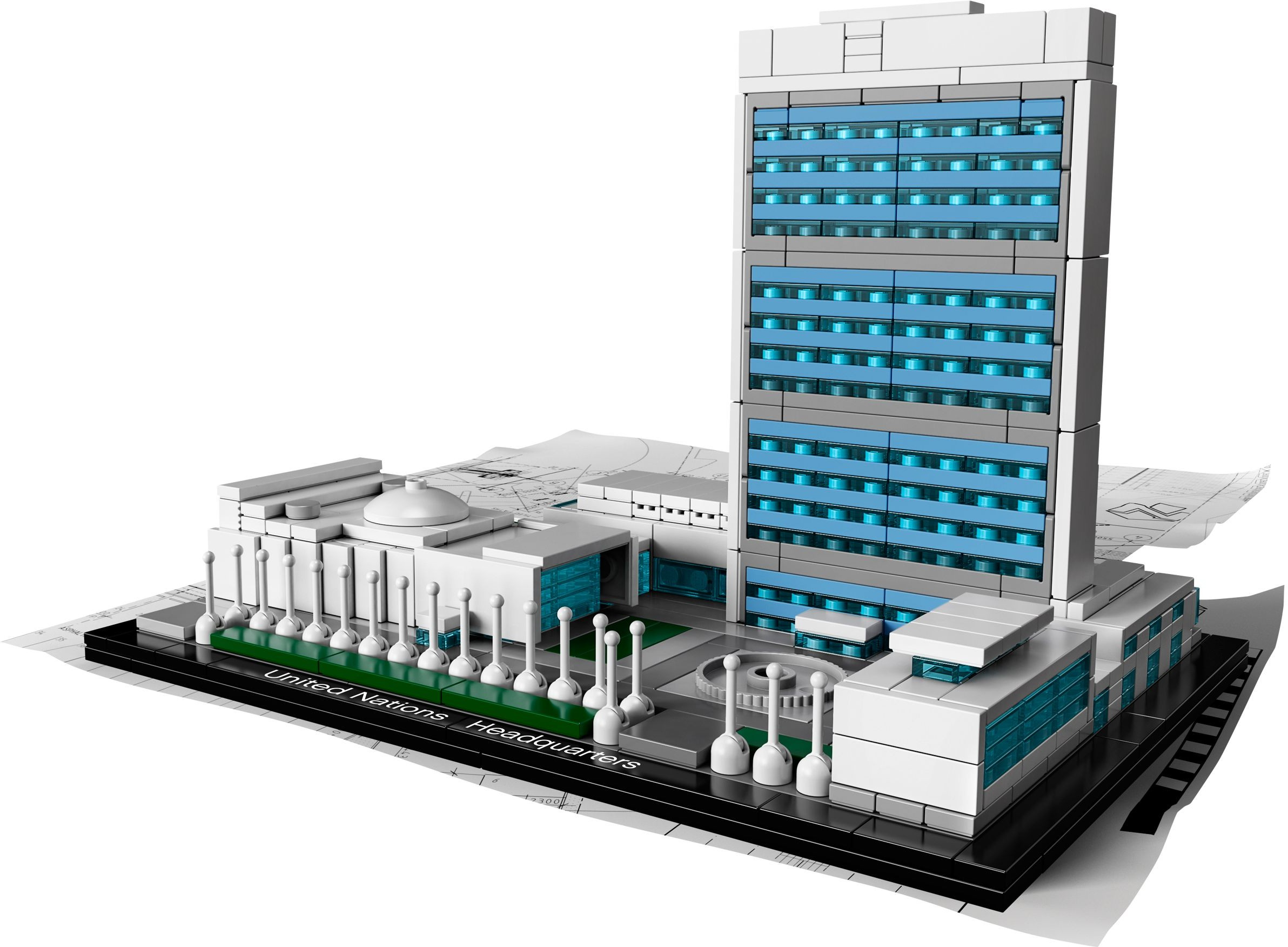Lego Architecture Series United Nations Headquarters