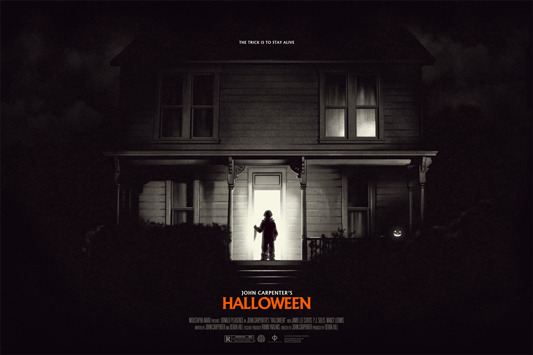 halloween poster by phantom city creative 36x24 screen print hand numbered edition of 150 printed by dl screenprinting 70 - Halloween Mondo Poster
