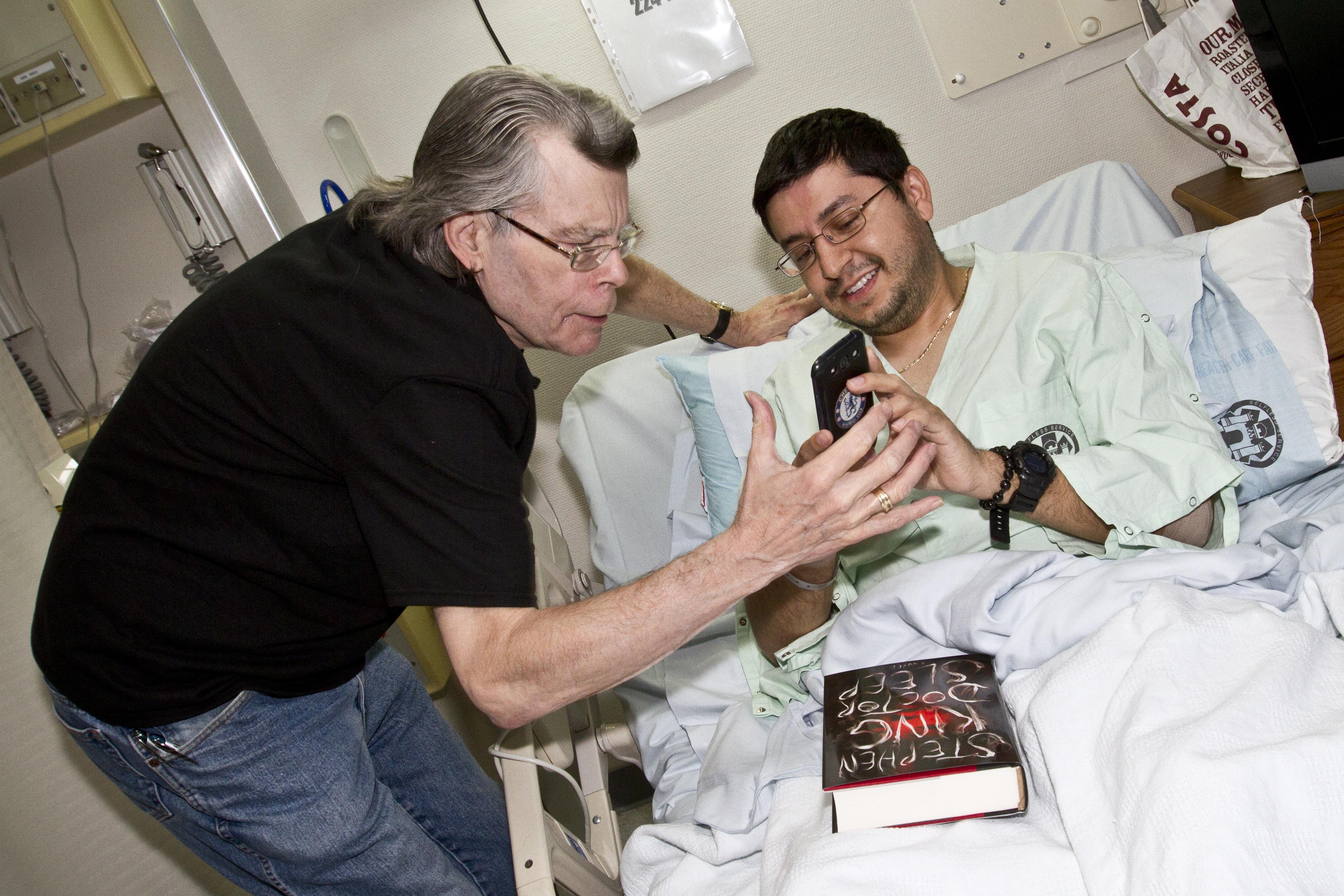 best selling author stephen king visits landstuhl regional