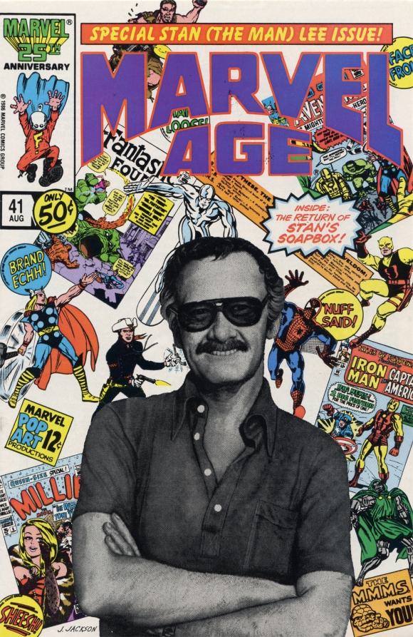 Marvel Age 41 Stan Lee Cover
