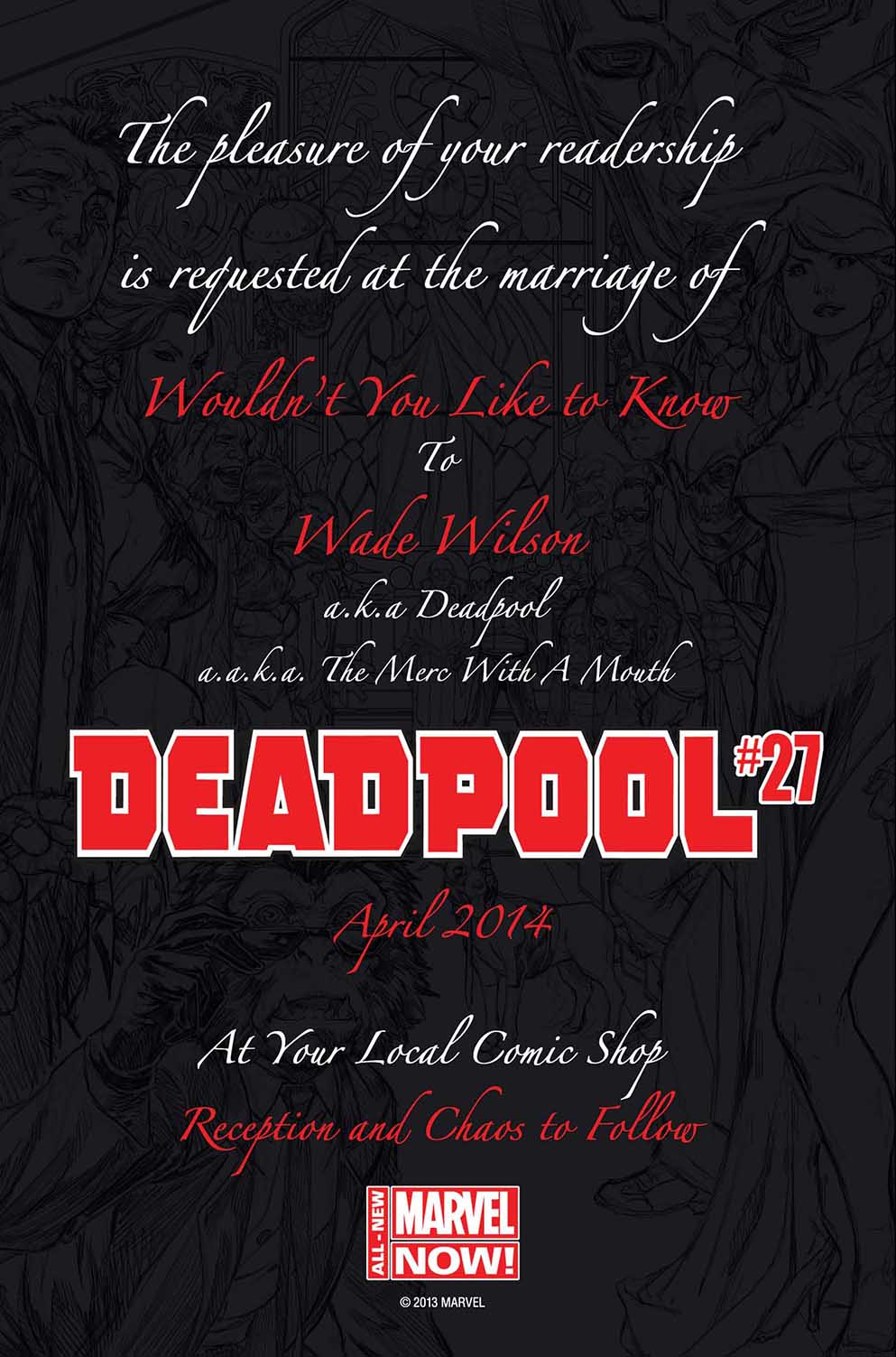 Marvel\'s Deadpool Getting Married This April |