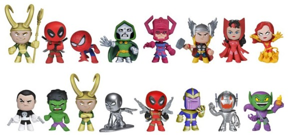 Marvel-Funko-Mystery-Minis-Series-1-Figures-Thanos-Loki-Deadpool-Galactus-Doom