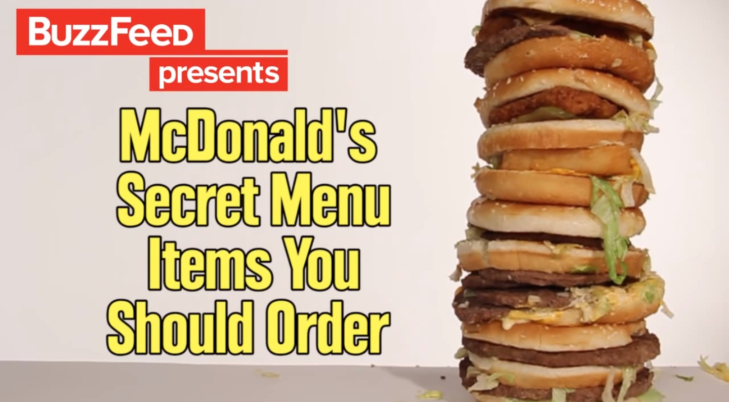 In N Out Menu >> BuzzFeed Tests Out Burgers & Other Items From The McDonald ...