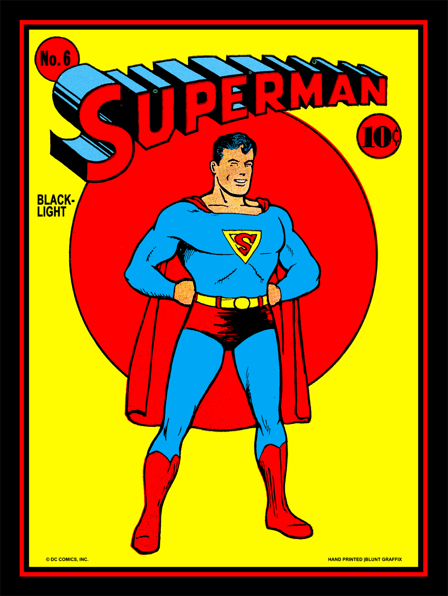 the gallery for gt vintage superman poster