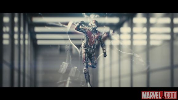 Photo of Ant-Man from the film's test footage 2