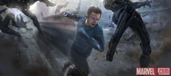 Quicksilver concept art from Marvel's Avengers- Age of Ultron