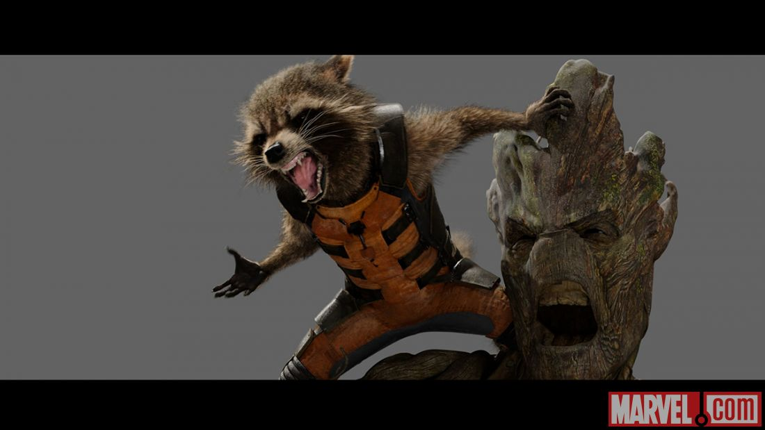 Rocket raccoon and groot from marvel s guardians of the galaxy