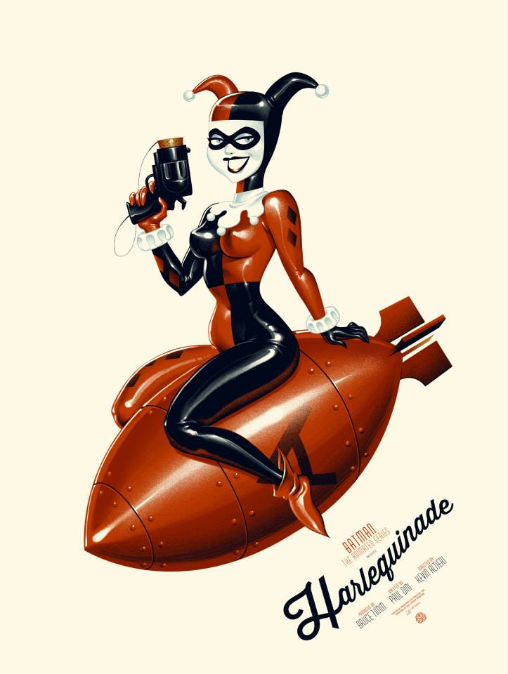 Harleyquinade Poster By Phantom City Creative  Screen Print Numbered Regular Edition Of