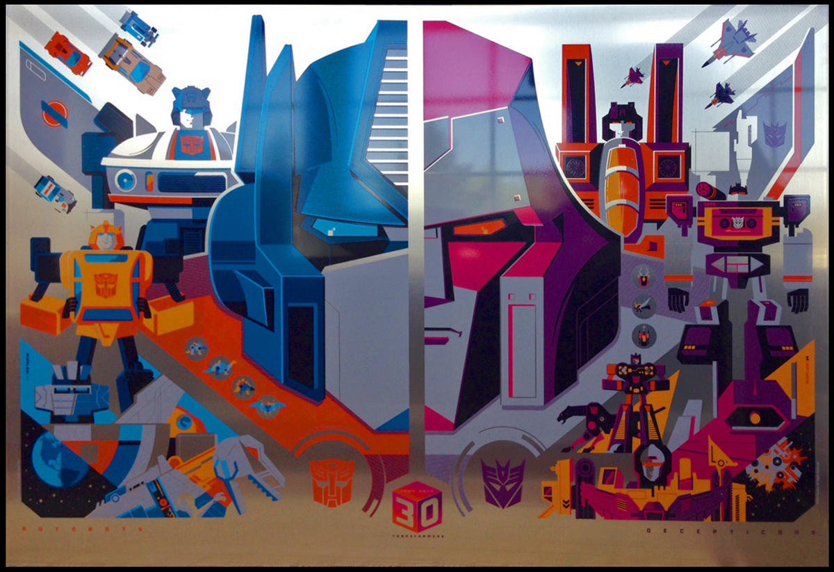 Acid Free Gallery To Release Transformers 30th Anniversary Prints By Tom Whalen On May 12, 2014