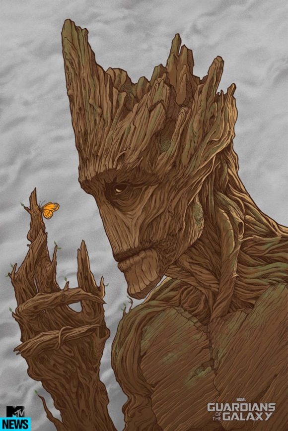 Guardians Of The Galaxy - Groot by Randy Ortiz