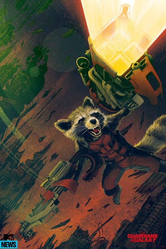 Guardians Of The Galaxy - Rocket Racoon by Kevin Tong (Variant)