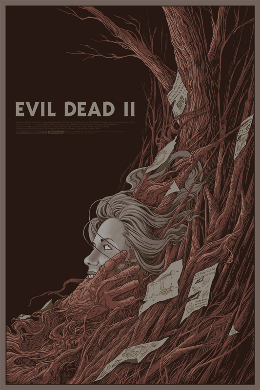 69a89df7ac Evil Dead 2 regular poster by Randy Ortiz. 24″x36″ screen print. Hand  numbered. Edition of 225.