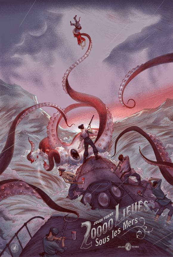 20,000 Leagues Under The Sea by Jonathan Burton (Variant)