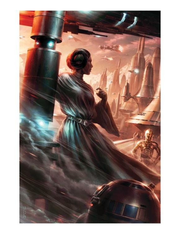 Last Look Back Leia Raymond Swanland Star Wars 4 Ltd