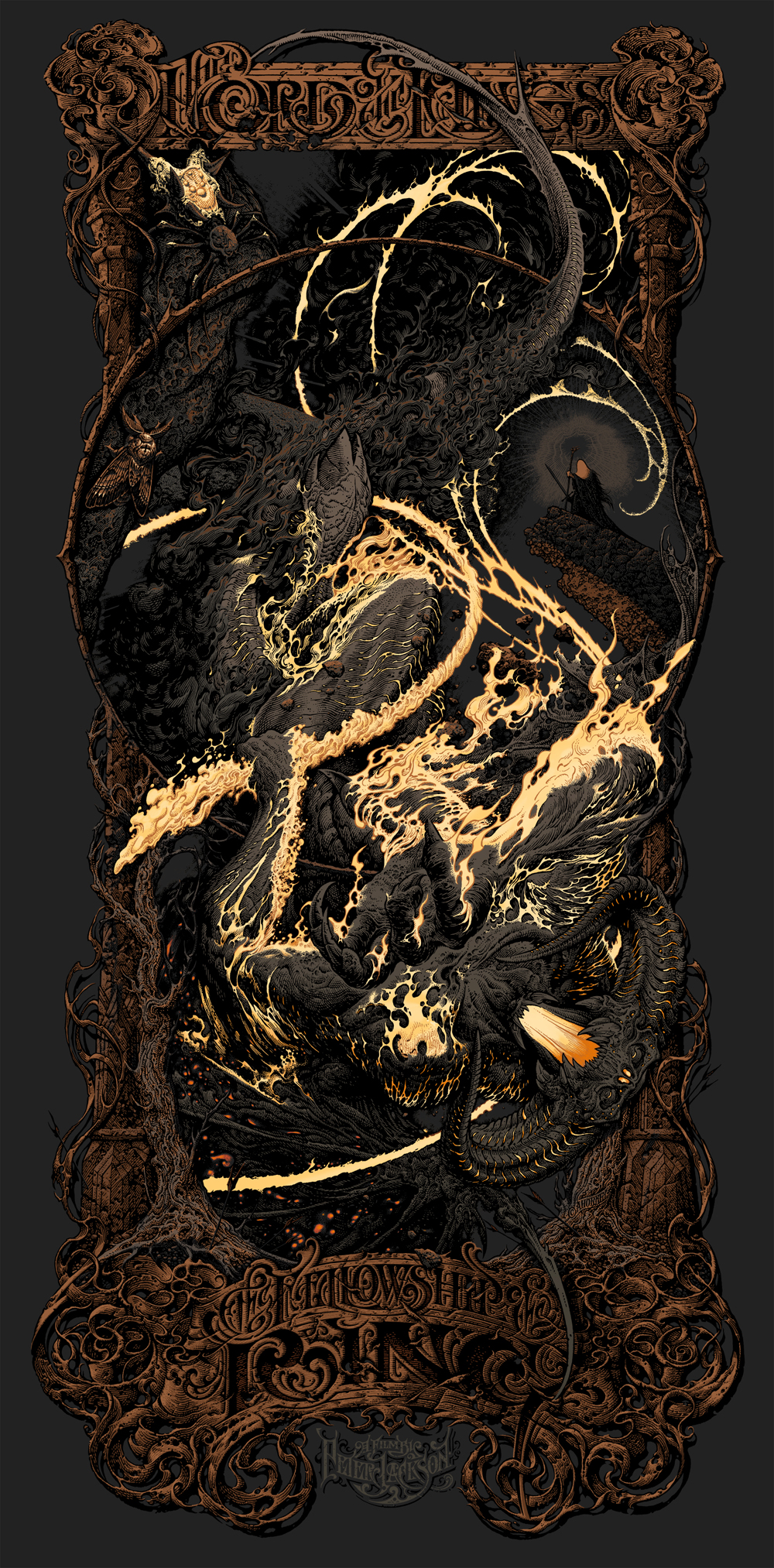 Lord Of The Rings Tarot The Hermit By Sceithailm On: MONDO To Release The Fellowship Of The Ring Print By Aaron