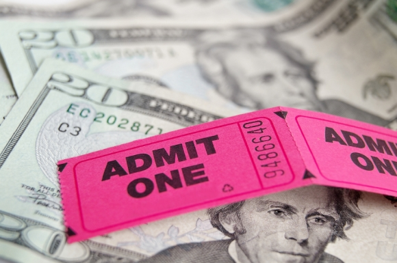 ticket stubs and cash