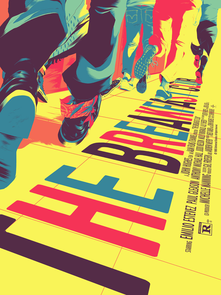 mondo to release the breakfast club print by matt taylor on var