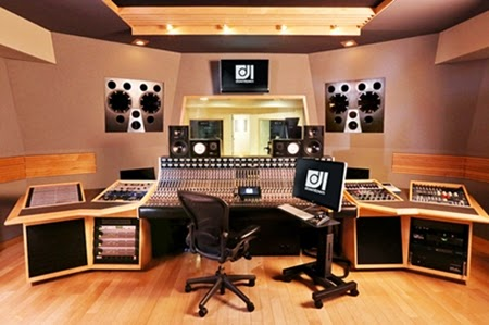 modern-home-music-studio-with-wood-tile-floor-and-music-recording-equipments